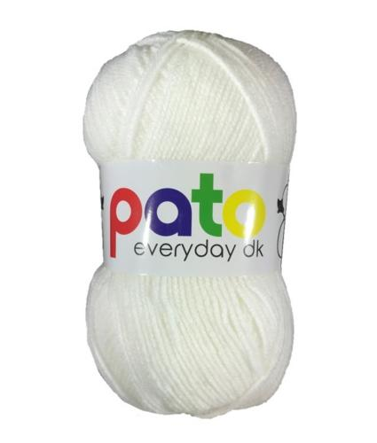 Cygnet Pato Everyday DK Knitting Yarn in White 999