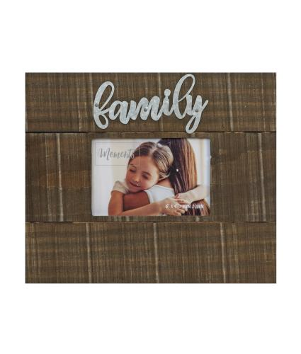 Family Moments 6x4 Wood Finish Photo Frame