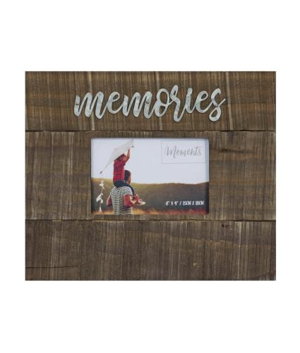 Memories 6x4 Wood Finish Photo Frame