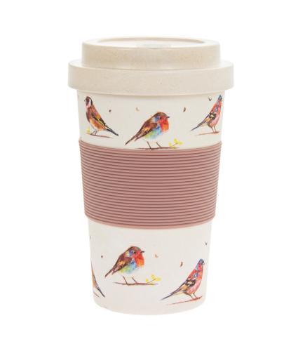 Country Life Birds Bamboo Travel Mug