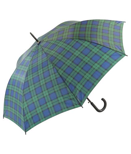Classic Black Watch Green Tartan Print Walking Umbrella