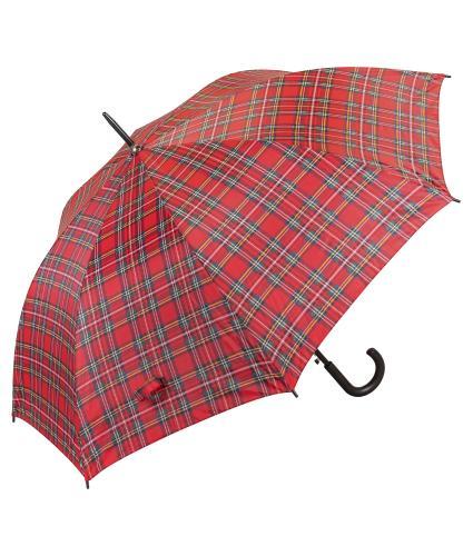 Classic Royal Stewart Red Tartan Print Walking Umbrella