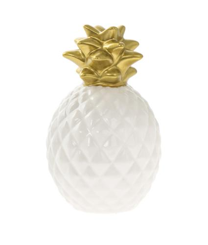 Pineapple Money Box - Small Gold