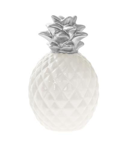 Pineapple Money Box - Small Silver