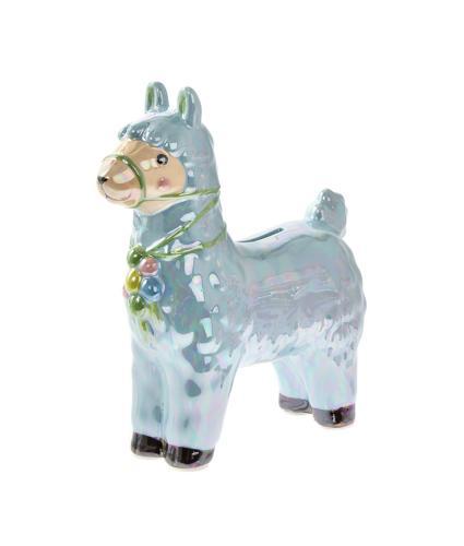 Llama Money Box - Blue