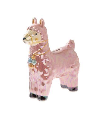 Llama Money Box - Pink