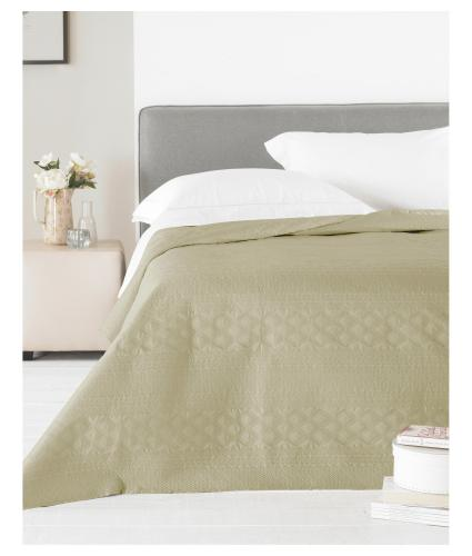 Country Club Matte Satin Bedspread - Gold