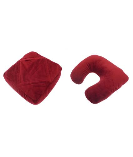 Multifunction Tablet/Book Support and Neck Cushion - Red