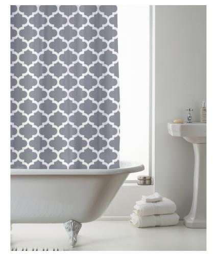 Country Club Shower Curtain - Moroccan Grey