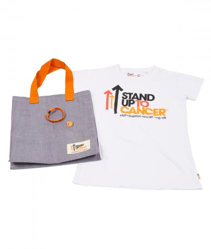 Stand Up To Cancer Women's Supporters Bundle - White T-Shirt
