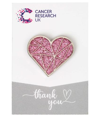 Sparkly Pink Heart Wedding Favour