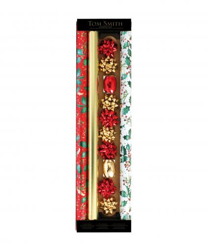 Festive Foliage Gift Wrap and Accessories Pack