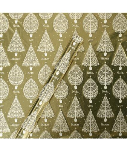 Tom Smith Gold Christmas Classics Wrapping Paper