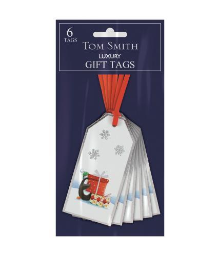 Tom Smith 6 Whimsical Christmas Gift Tags