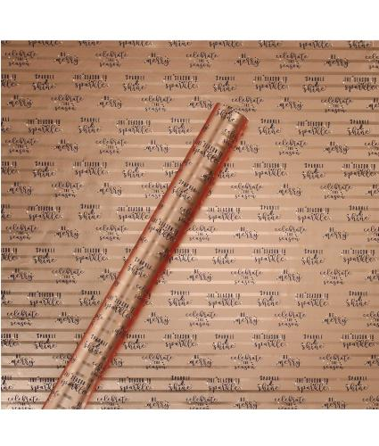 Tom Smith Midnight Metallic Stars Wrapping Paper