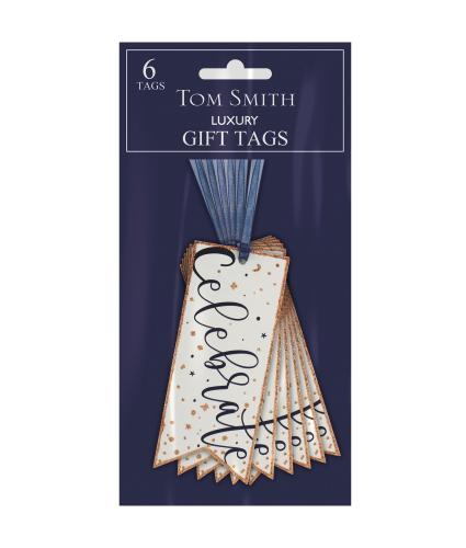 Tom Smith 6 Midnight Stars Festive Gift Tags