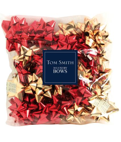 Tom Smith 30 Luxury Red & Gold Bows