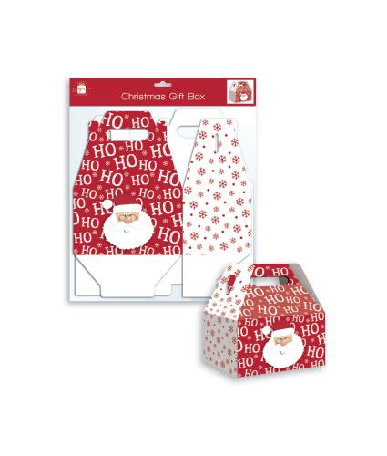 Ho Ho Ho Santa Folding Gift Box - Small