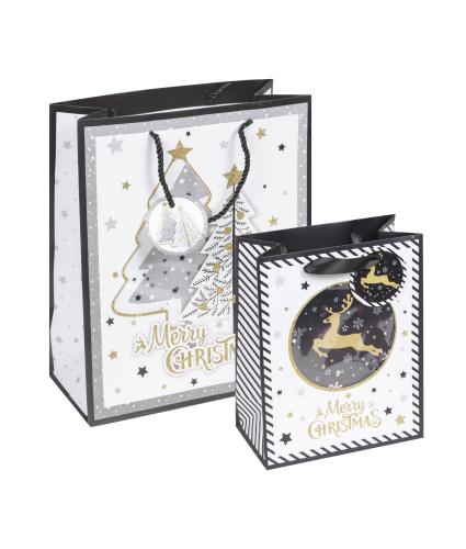 Merry Christmas Gift Bags - Set of 2