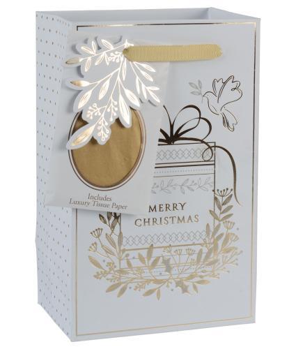 Tom Smith Golden Foliage Luxury Gift Bag - Small