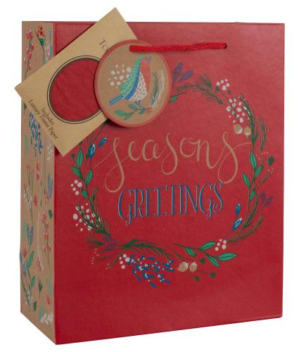 Tom Smith Merry Little Christmas Luxury Gift Bag
