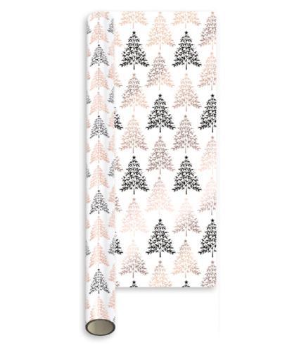 Rose Gold Metallic 2m Luxury Gift Wrap - Trees