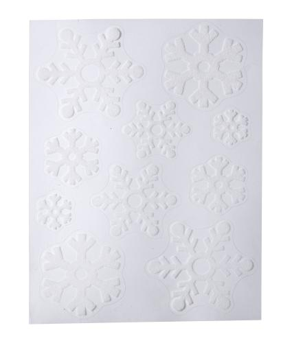 White Flock Snowflake Window Stickers