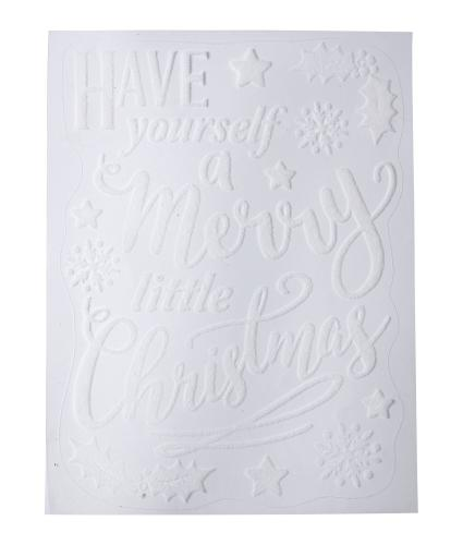 White Flock Have Yourself a Merry Little Christmas Window Stickers
