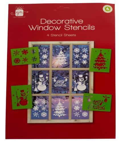 Decorative Window Christmas Stencil Set