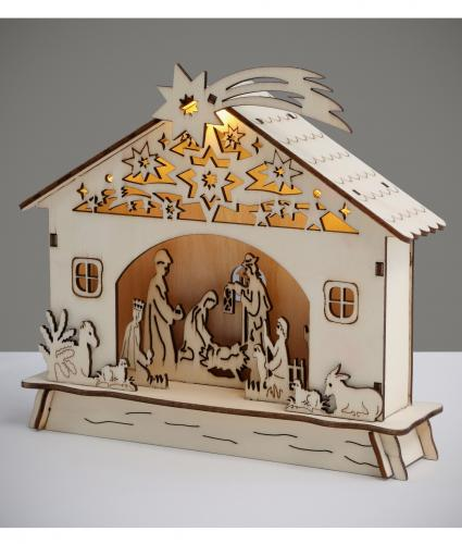 LED Pre-lit Nativity