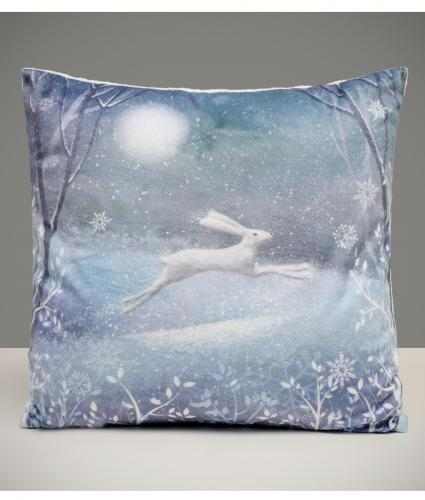 Moonlit Hare Cushion