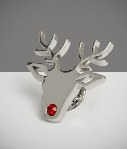 Reindeer Pin Badge