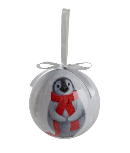 Winter Penguin Decoupage Bauble