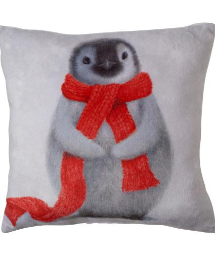 Small Winter Penguin Cushion