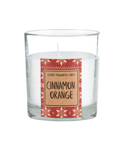 Cinnamon & Orange Glass Candle