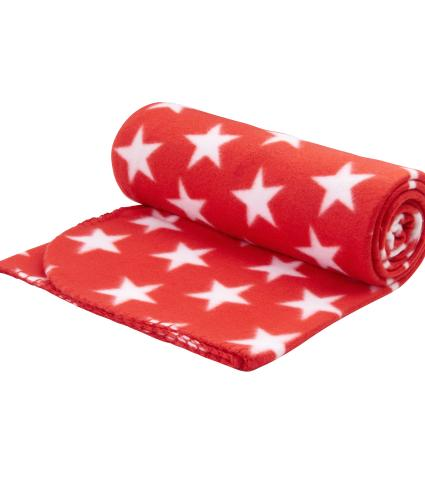 Red Star Fleece Throw
