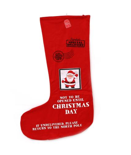 Red Festive Santa Stocking