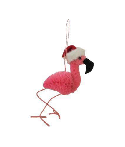 Festive Flamingo Christmas Tree Decoration