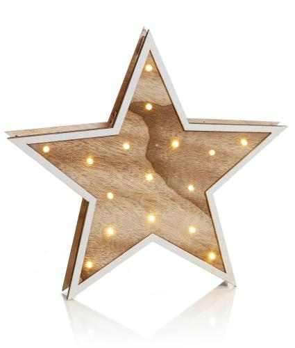 Wooden Star LED Light