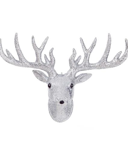 Glitter Reindeer Wall Decoration
