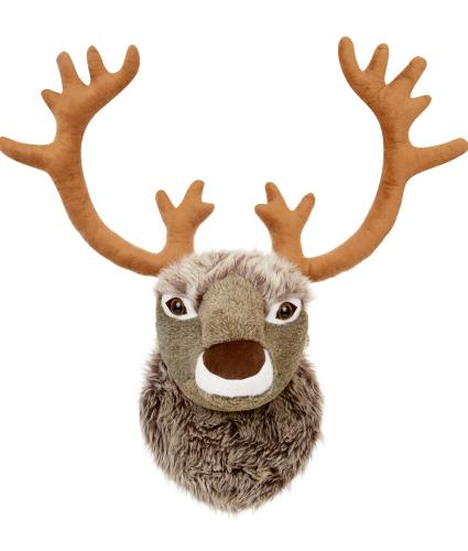 Plush Reindeer Head