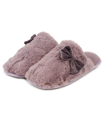Totes Toasties Ladies Mule Slippers - Mink Small