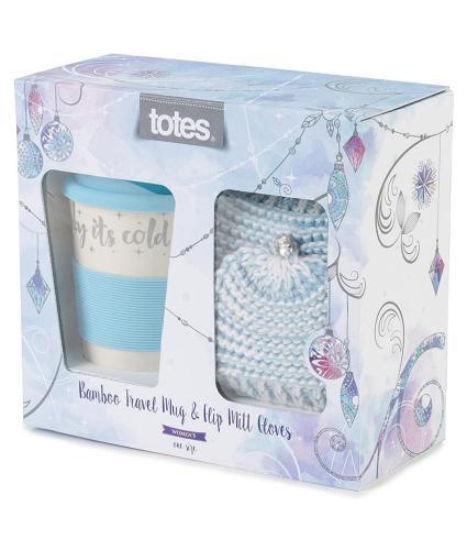 Totes Ladies Travel Mug & Glove Set