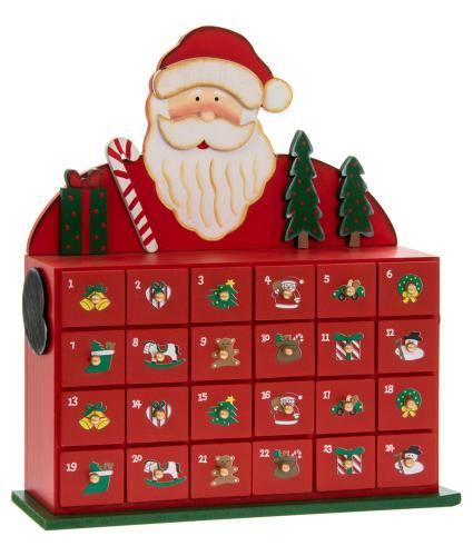 Santa Reusable Wooden Advent Calendar