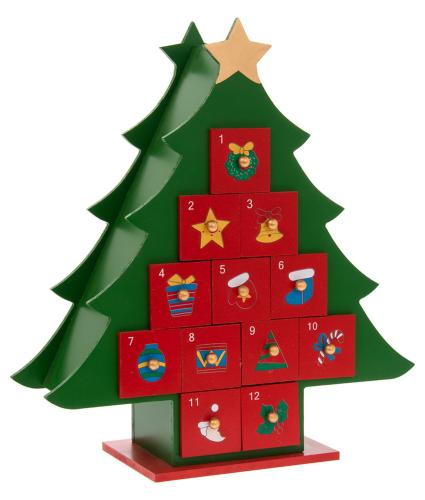 Christmas Tree Reusable Wooden Advent Calendar