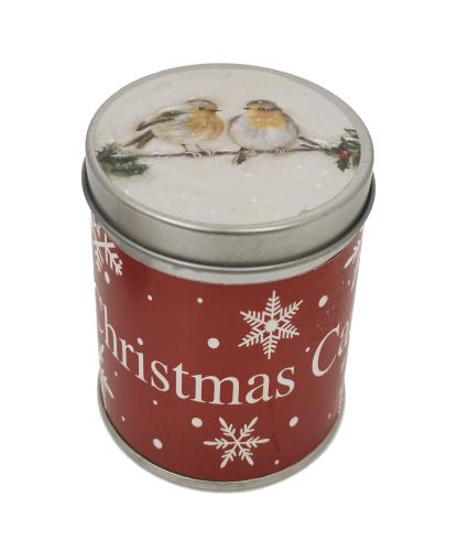 Robin large tin candle