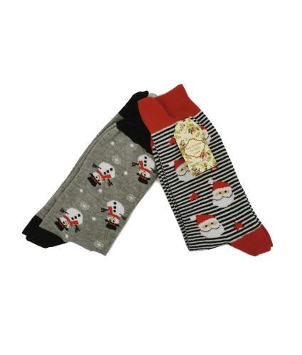 Christmas Socks - Mens Pack of 2