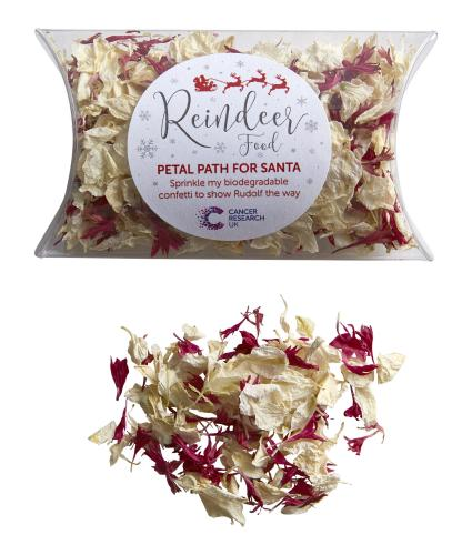 Biodegradable Reindeer Food and Petal Path