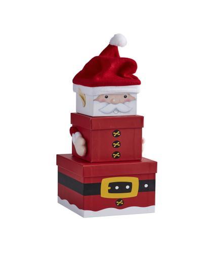 Nested Christmas Gift Boxes - Santa