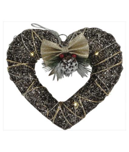 Heart LED Lit Hanging Decoration